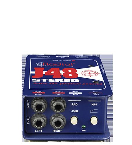 Radial J48 Stereo активный директ-бокс