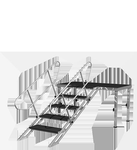 Универсальная сценическая лестница (0,8 — 1,6м)